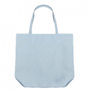Trendy tas shopper Light blue grey