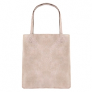 Trendy tas shopper Light taupe