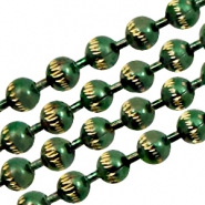 Ball Chain ketting goldline 3mm Green