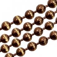 Ball Chain ketting goldline 3mm Brown