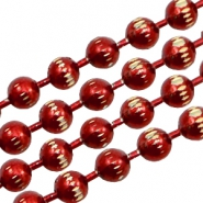 Ball Chain ketting goldline 3mm Red