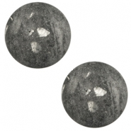 12 mm classic Polaris Elements cabochon Rockstar Anthracite grey