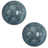 12 mm classic Polaris Elements cabochon Rockstar Stargazer blue