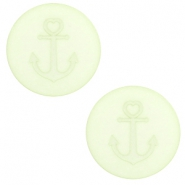 12 mm platte Polaris Elements cabochon anker Relaxing green