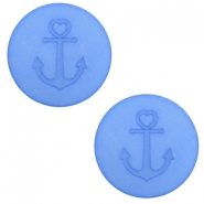 12 mm platte Polaris Elements cabochon anker River blue