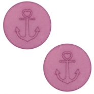 20 mm platte Polaris Elements cabochon anker Light mauve purple