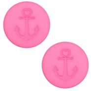 12 mm platte Polaris Elements cabochon anker Peonia pink