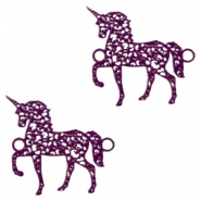 Bohemian tussenstuk unicorn Dark purple