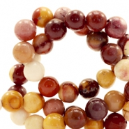 Halfedelsteen kraal rond 4mm calcite orange Mixed colours brown