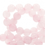 Halfedelsteen kraal rond 6mm rose quartz Light princess pink opal
