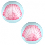 Cabochons basic 20mm Shell-airy blue