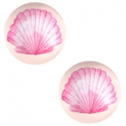 Cabochons basic 20mm Shell-coral peach