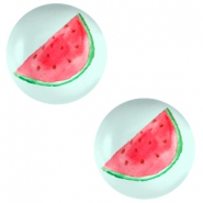 Cabochons basic 12mm Watermelon-light turquoise blue
