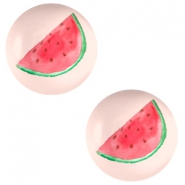 Cabochons basic 12mm Watermelon-light coral peach