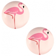 Cabochons basic 12mm Flamingo-coral peach