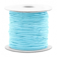 Gekleurd elastiek 0.8mm Light turquoise blue