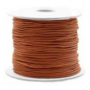 Gekleurd elastiek 0.8mm Copper brown