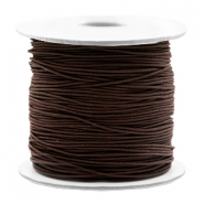 Gekleurd elastiek 0.8mm Dark brown