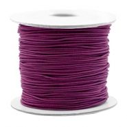 Gekleurd elastiek 0.8mm Aubergine purple