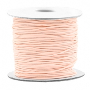 Gekleurd elastiek 0.8mm Light peach