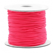 Gekleurd elastiek 0.8mm Fluor rose