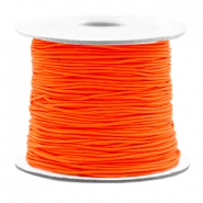 Gekleurd elastiek 0.8mm Fluor orange