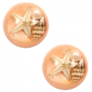 Cabochons basic met zeester 20mm Light orange