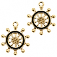 Basic quality metaal bedel wheel Gold-black