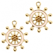 Basic quality metaal bedel wheel Gold-light pink