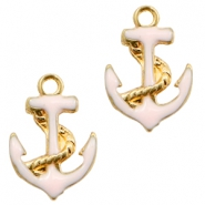 Basic quality metaal bedel anchor Gold-light pink
