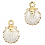 Basic quality metaal bedel shell Gold-white