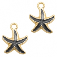 Basic quality metaal bedel seastar Gold-black