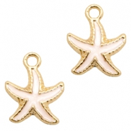 Basic quality metaal bedel seastar Gold-white