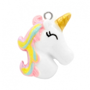 Bedels 1 oog unicorn White-rainbow pink