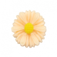 Daisy bloem kraal 13mm Light peach