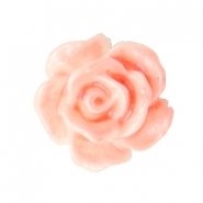 Roosje kralen 10mm Wit-coral peach