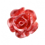 Roosje kralen 10mm Wit-precious rose pearl shine