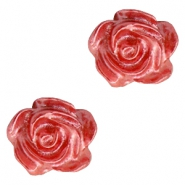 Roosje kralen 6mm Wit-precious rose pearl shine