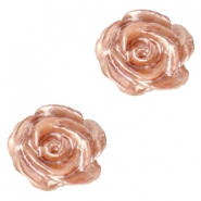 Roosje kralen 6mm Wit-ginger rose pearl shine