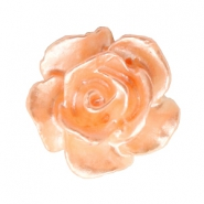 Roosje kralen 10mm Wit-fresh peach pearl shine