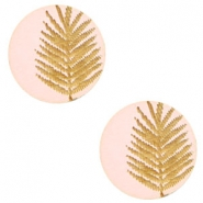 Cabochons hout varen 12mm Light pink