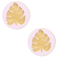 Cabochons hout blad 12mm Light lavender purple