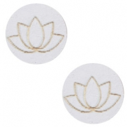 Cabochons hout lotus 12mm Grey