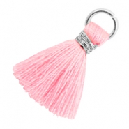 Kwastje 1.8cm Zilver-Candy pink