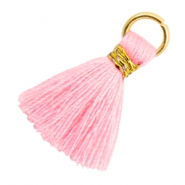Kwastje 1.8cm Goud-Candy pink