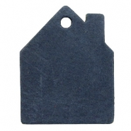 Hangers DQ leer huis Dark denim blue