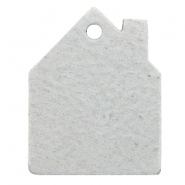 Hangers DQ leer huis Light grey