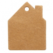 Hangers DQ leer huis Light cognac brown