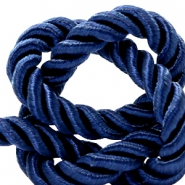 Trendy koord 10 mm weave Dark blue