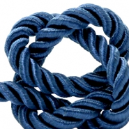 Trendy koord 10 mm weave Royal blue